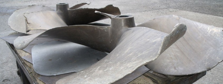Propeller before repair