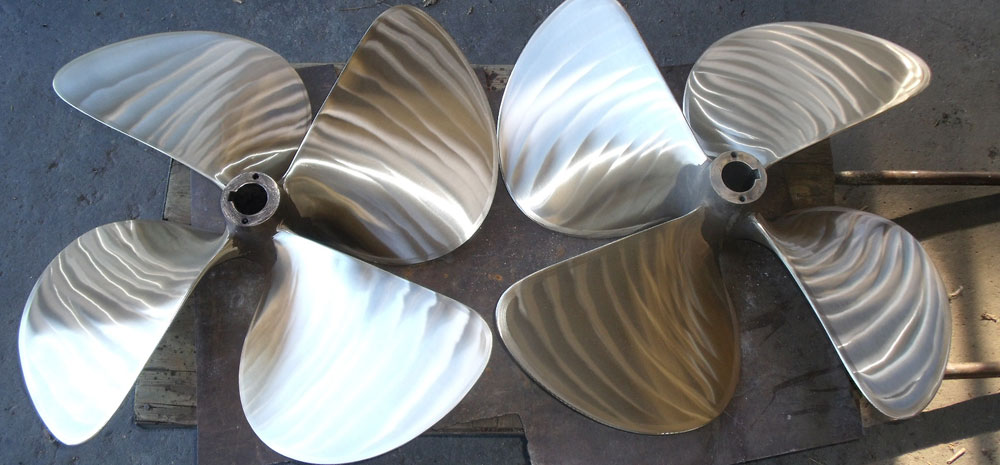 New Propellers for Fishing Boats, Yachts, Ferries and Oil Rigs