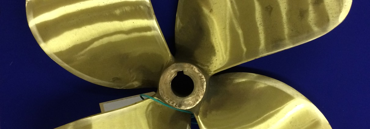 Reconditioned 4 bladed left hand propeller from FAL Propellers