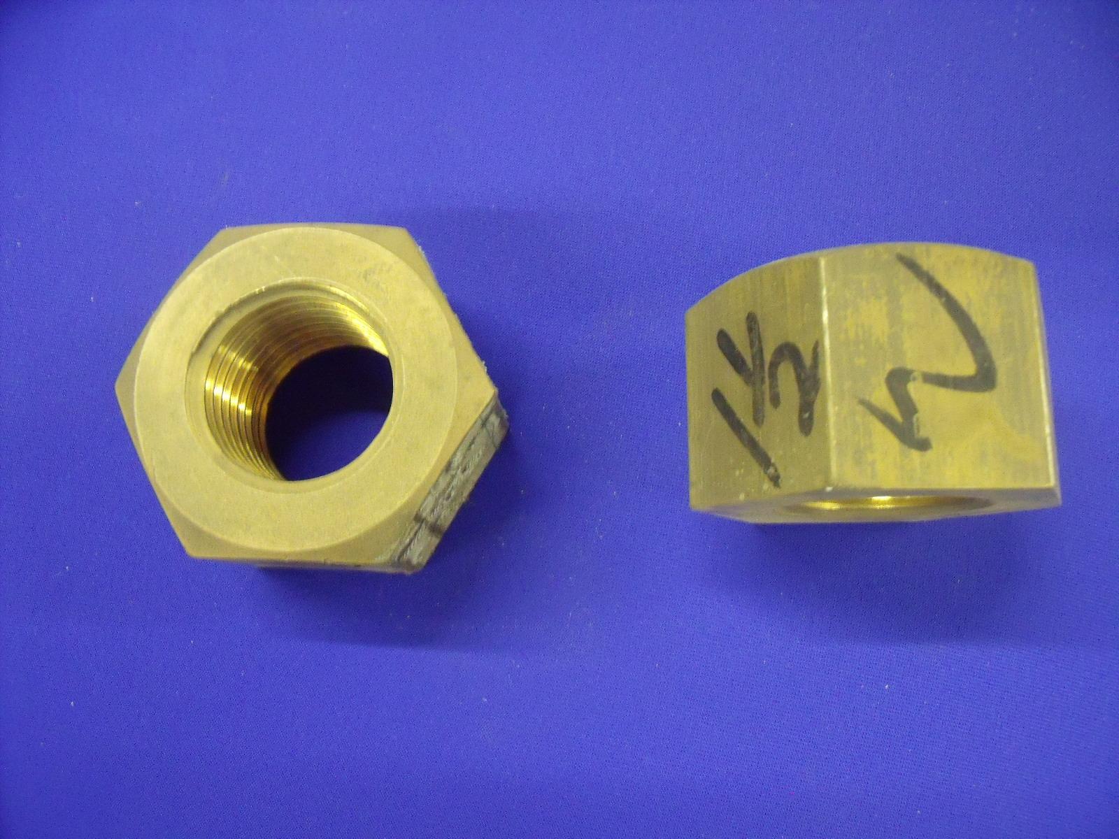 Brass Hex Nut 1 12 Whitworth